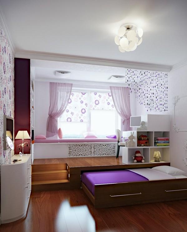 Tương tự với cách thiết kế giường ngủ ngầm dưới mặt sàn, căn phòng này thật gọn gàng và thoáng đãng.