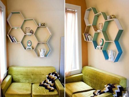 Chiếc giá tổ ong lạ mắt trở thành điểm nhấn trong nhà bạn.