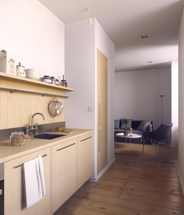 Mẫu bếp hình chữ I là giải pháp hoàn hảo cho những căn hộ nhỏ.
