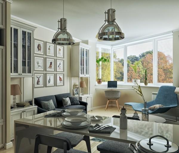 Cửa sổ với view cực đẹp giúp căn hộ thông thoáng, gần gũi thiên nhiên.