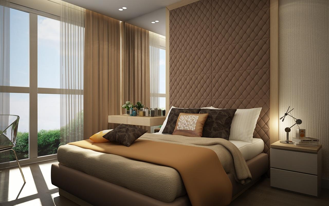 Phòng ngủ là nơi rất quan trọng, là nơi nạp lại năng lượng sau ngày làm việc mệt mỏi, vách da đầu giường tạo nên sự sang trọng và là điểm nhấn chính cho phòng ngủ.