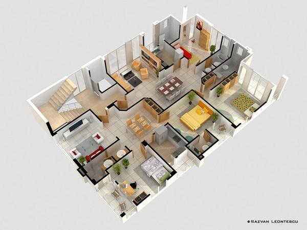 Không quá rộng nhưng căn hộ này lại có lợi thế là vuông vức và có đến 4 mặt thoáng. Diện tích mỗi phòng thực tế đều không quá rộng rãi nhưng vẫn cực tiện nghi với phòng vệ sinh đi kèm, góc loggia nhỏ để hóng gió, nghỉ ngơi.