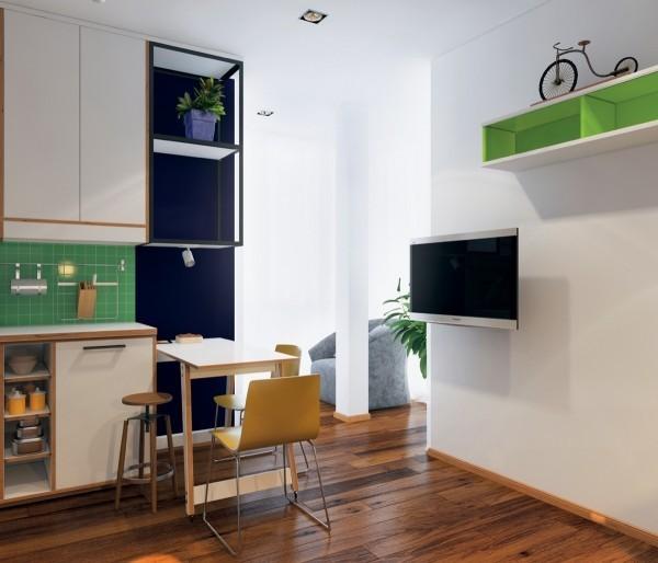 Bộ bàn ghế nhỏ xinh có thể gấp lại gọn gàng sau khi sử dụng.