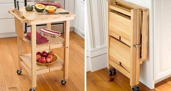 Đảo bếp gấp gọn có thể phù hợp cho mọi phòng bếp.