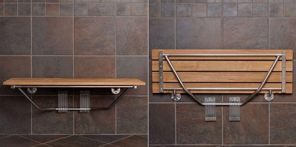 Ghế băng treo tường phù hợp cho nhà tắm hay tiền sảnh nhỏ.
